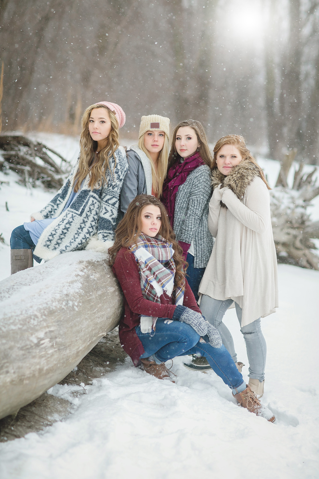 Winter Senior Model Shoot Twin Cities Senior Portraits Photography By Nealy